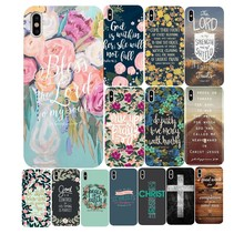 Bible verse Philippians Jesus Christ Christian Soft Silicone Phone Case for iPhone X XR XS Max  6S 7 8 Plus 5 11 11PRO MAX SE 10