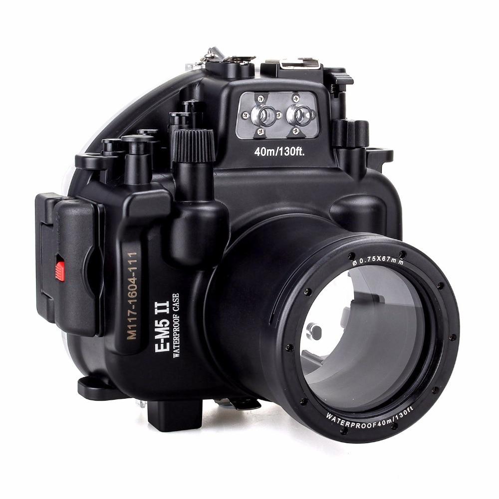 Nuevo cuero caso bolsa para Olympus OM-D E-M5 Mark II Cámara 12-50mm Lente EM5 II