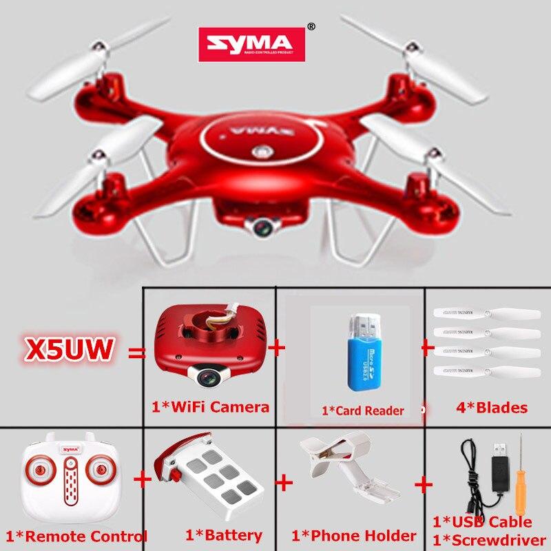 SYMA X5UW Selfie Drone With Wifi Camera Hd 720p FPV