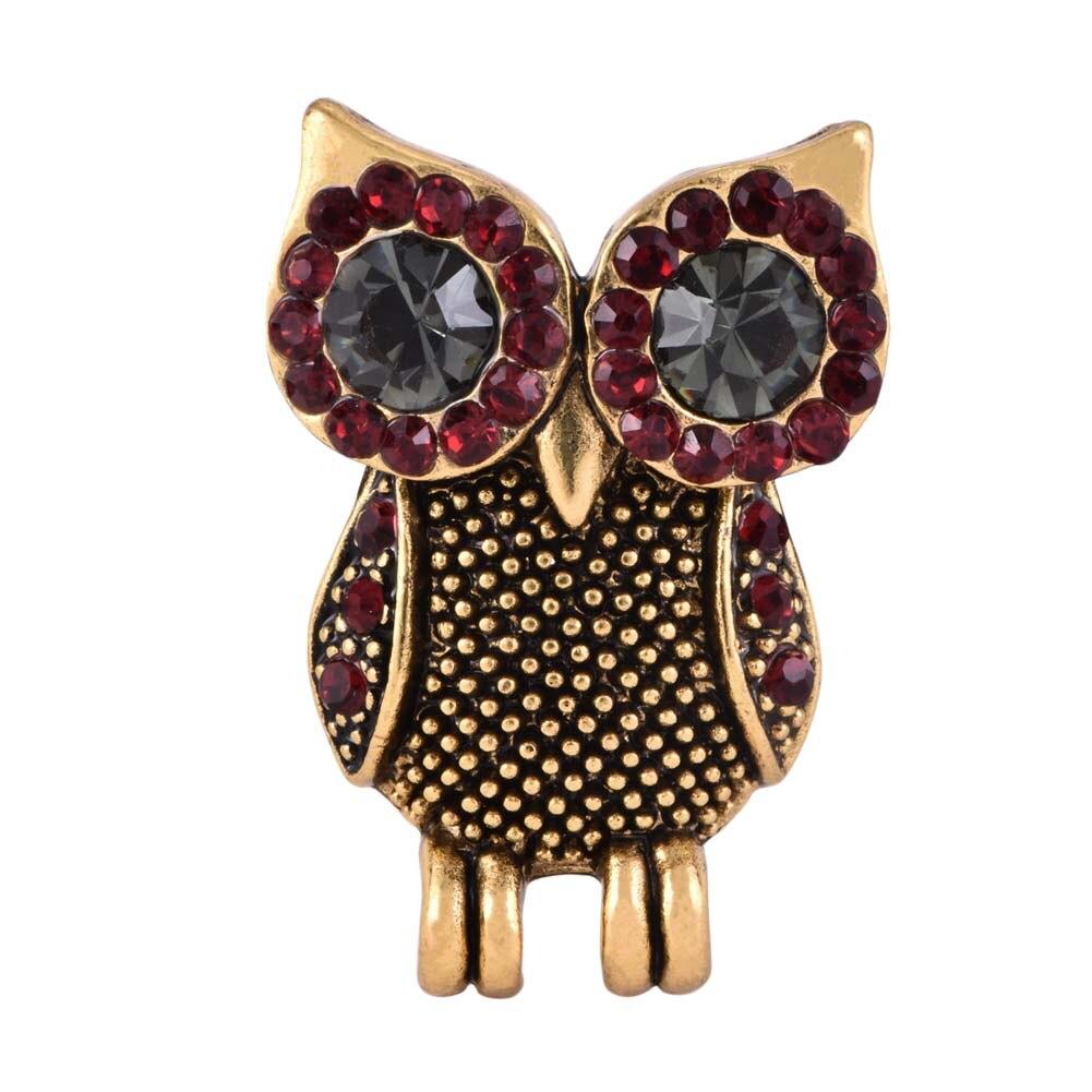 2017 Summer Fashion Rhinestone Eye Owl Brooch Vintage Suit ...