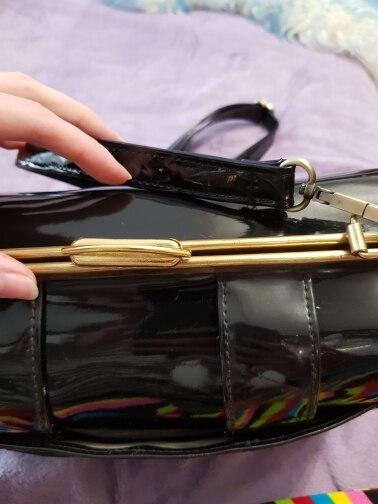 Long Adjustable Black Bag Strap DIY Replacement PU Leather Shoulder Bags Straps, Belts for Handbags, Purses (4 Metal Colors) photo review