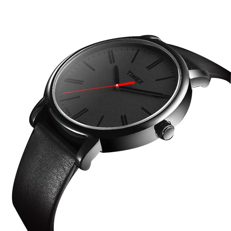 4375cc94a6ee Mne Reloj Timex Easy Reader Negro Correa de Cuero Para Hombre de Cuarzo  Reloj T2N794 Luminosos Relojes Unisex en Relojes de cuarzo de Relojes en ...