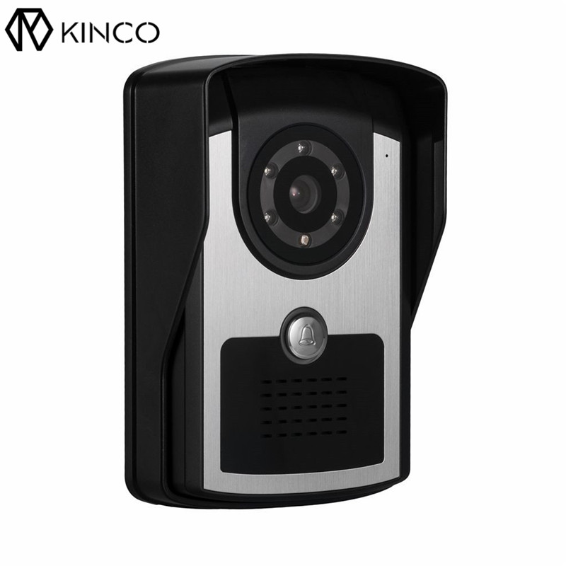 KINCO WIFI Smart 1080P Doorbell Machine P2P Push Visitor Calls Waterproof APP Remote Control Home Safety Infrared Night Vision kinco night vision video doorbell smart home wifi remote control hd waterproof dtmf motion detection alarm for phone