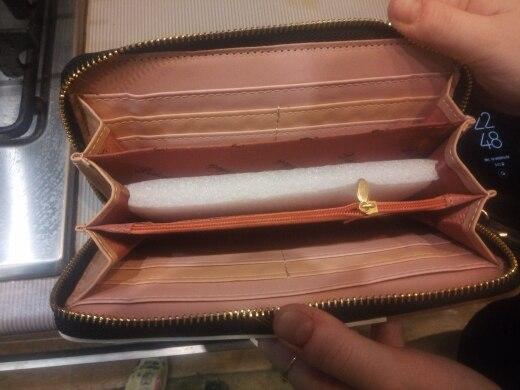 кожаный бумажник женщин; бренд класса люкс ; Подкладка Материал:: Полиэстер; роскошные;