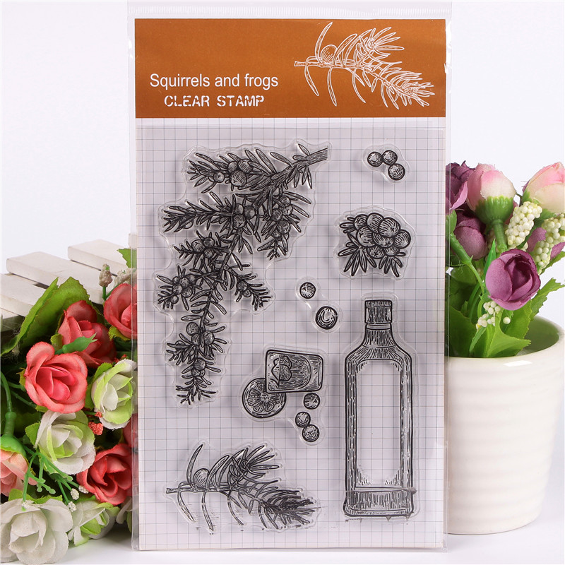 DLKSDIYEmpty flower bottle Transparent Clear Stamp DIY Silicone Seals Scrapbooking / Card Making/Photo Album Decoration