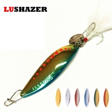 Fishing spoon 5g 7.5g 10g 15g 20g metal lures iscas artificiais bait bass carp winter ice fishing lure fishing tackles