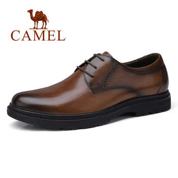 CAMEL Business Men Shoes Casual Shoes Office/wedding Genuine Leather Retro England Male Burnt vintage color cowhide Shoes Men - DISCOUNT ITEM  35% OFF All Category