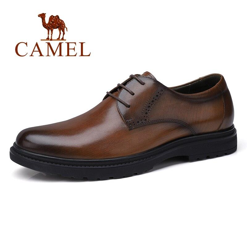 KAMEL Business Männer Schuhe Casual Schuhe Büro/hochzeit Echtem Leder Retro England Männlichen Verbrannt vintage farbe rindsleder Schuhe Männer-in Formelle Schuhe aus Schuhe bei  Gruppe 1