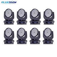 no tax custom 8pcs/lot, Stage moving head wash rgbw led wash light 108x3W stage ktv disco nightclub professional lighting