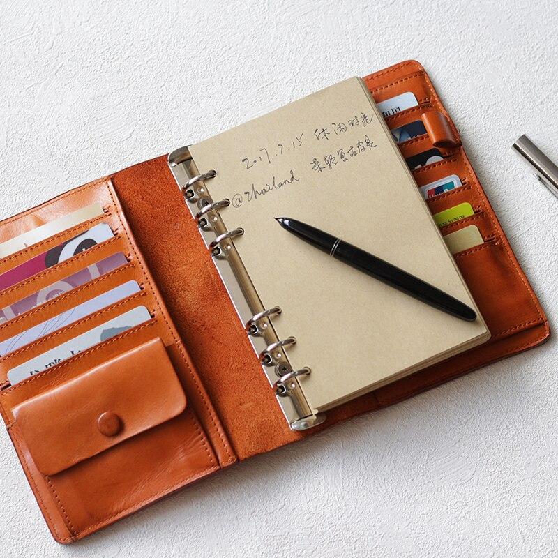 Yiwi B6 00 Genuine Leather Notebook Handmade Vintage Cowhide Diary Travel Journal Sketchbook Bind Planner Gift