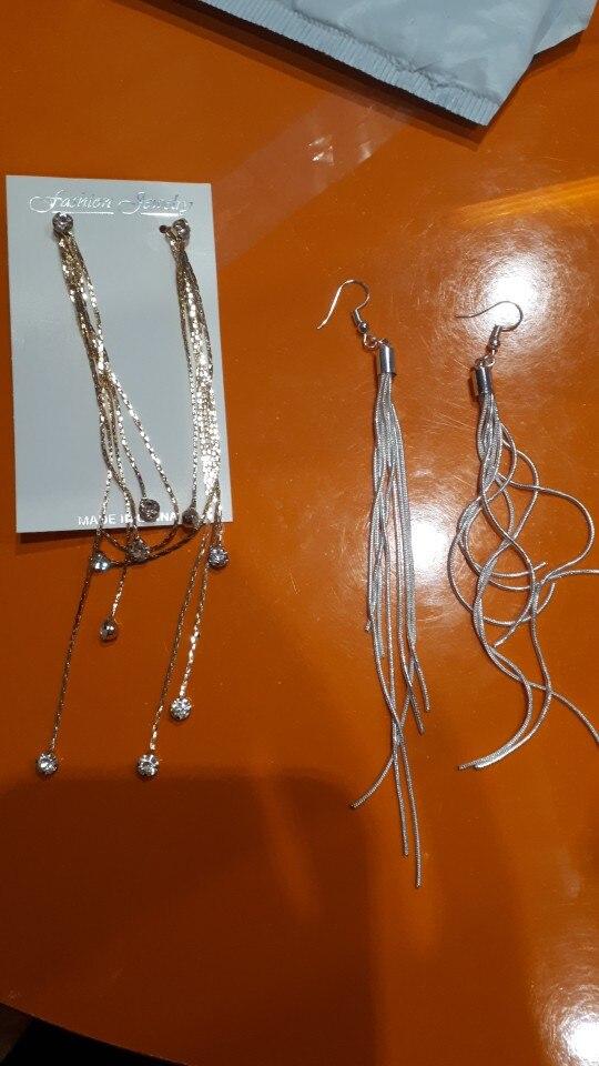 Long Copper Dangle Earrings photo review