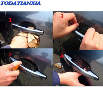 car door Handle Protection Film Sticker FOR Lexus RX350 LS430 Acura MDX RDX TSX Seat Leon Ibiza Toledo Saab 9-3 9-5 93 image