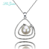 L&zuan Natural Freshwater Pearl Pendant Romantic Luxury 925 Silver Pendant Necklace For Women Sterling Sliver Jewelry P0022