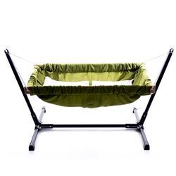 Holz baby infant stubenwagen bettwäsche hängematte für indoor oder outdoor Svava holz baby hängematte mit metall stehen