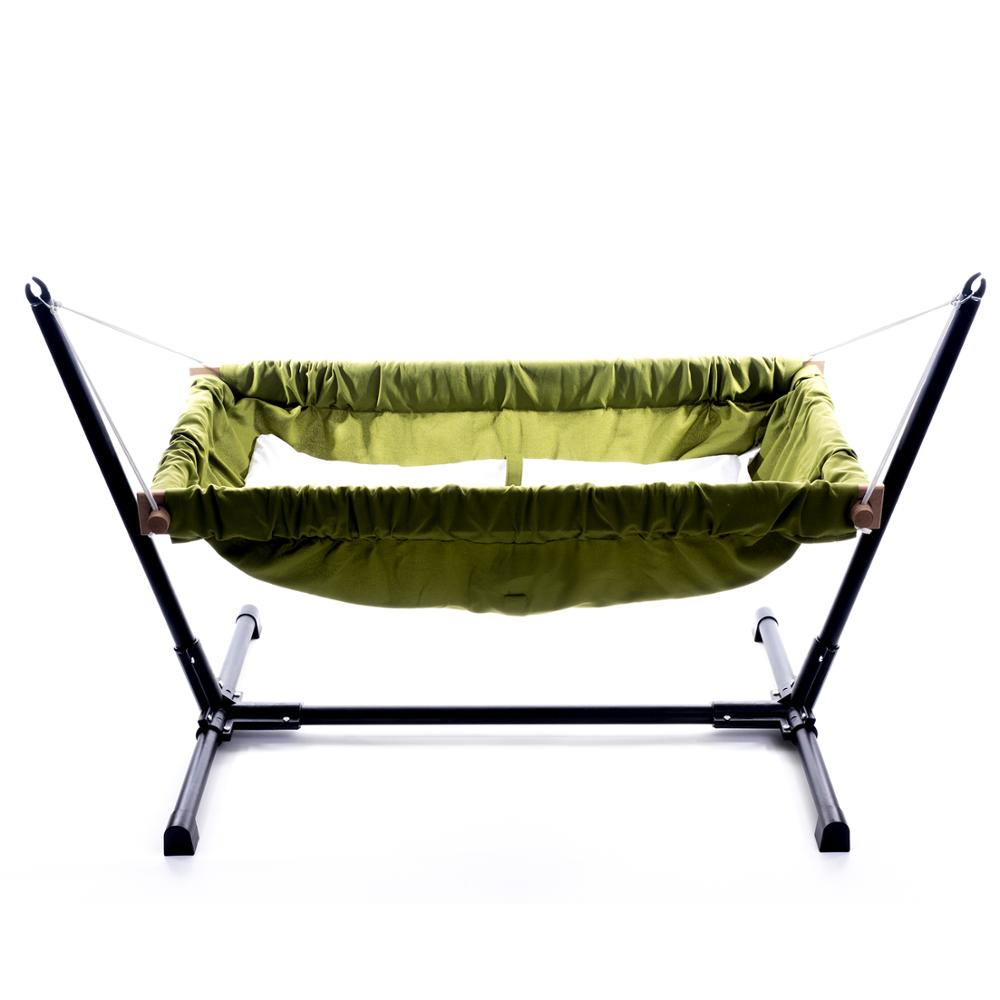 Wooden Baby Infant Bassinet Bedding Hammock For Indoor Or Outdoor Svava Wooden Baby Hammock With Metal Stand