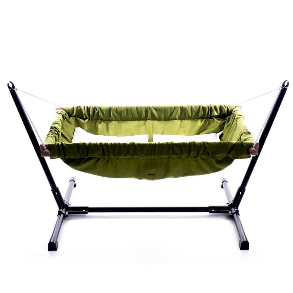 Wooden Baby Infant Bassinet Bedding Hammock For Indoor Or Outdoor Svava Wooden Baby Hammock With Metal Stand