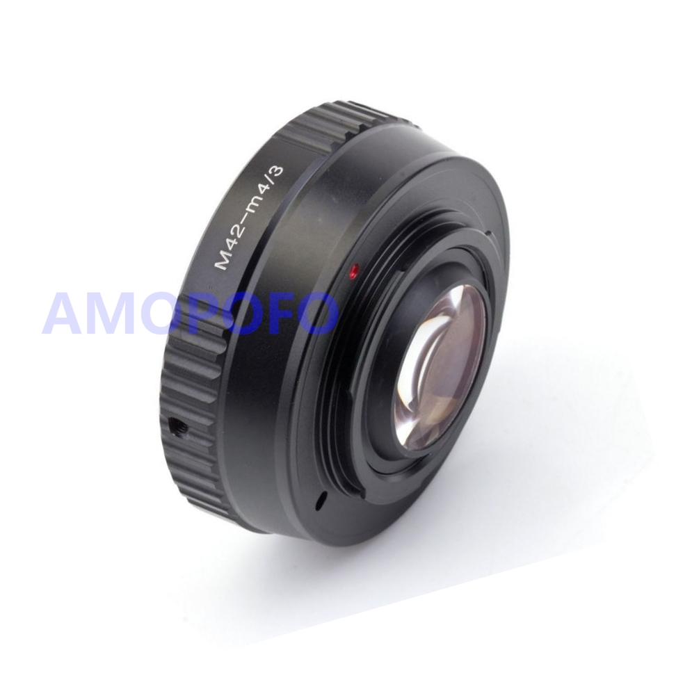 Amopofo Focal Reducer Speed Booster Adapter Nikon F Mount G to Olympus Micro 4//3 GH4 OM-D Adapter