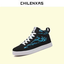 CHILENXAS 2017 Autumn Winter New Casual Shoes Men Canvas Warm Fur Ankle Boots Leather Footwear Comfortable Breathable Light