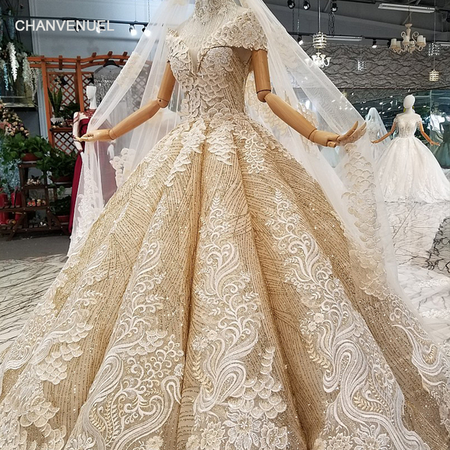 LS11408  Golden prom party dresses ball gown lace up back sweetheart floor length puffy shiny evening gowns with petticoat