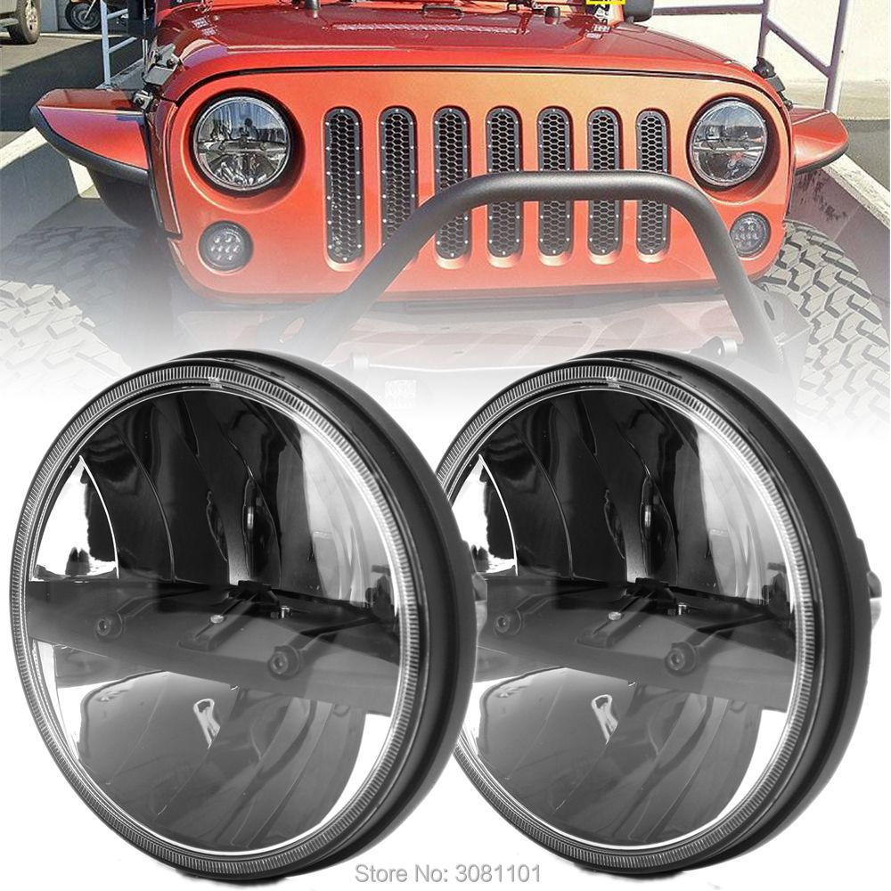 2 PCS Projector Auto LED Headlight for 1997-2006 Jeep Wrangler TJ/2007-2014 Jeep Wrangler Unlimited JKU 4 Door siku внедорожник jeep wrangler с прицепом для перевозки лошадей