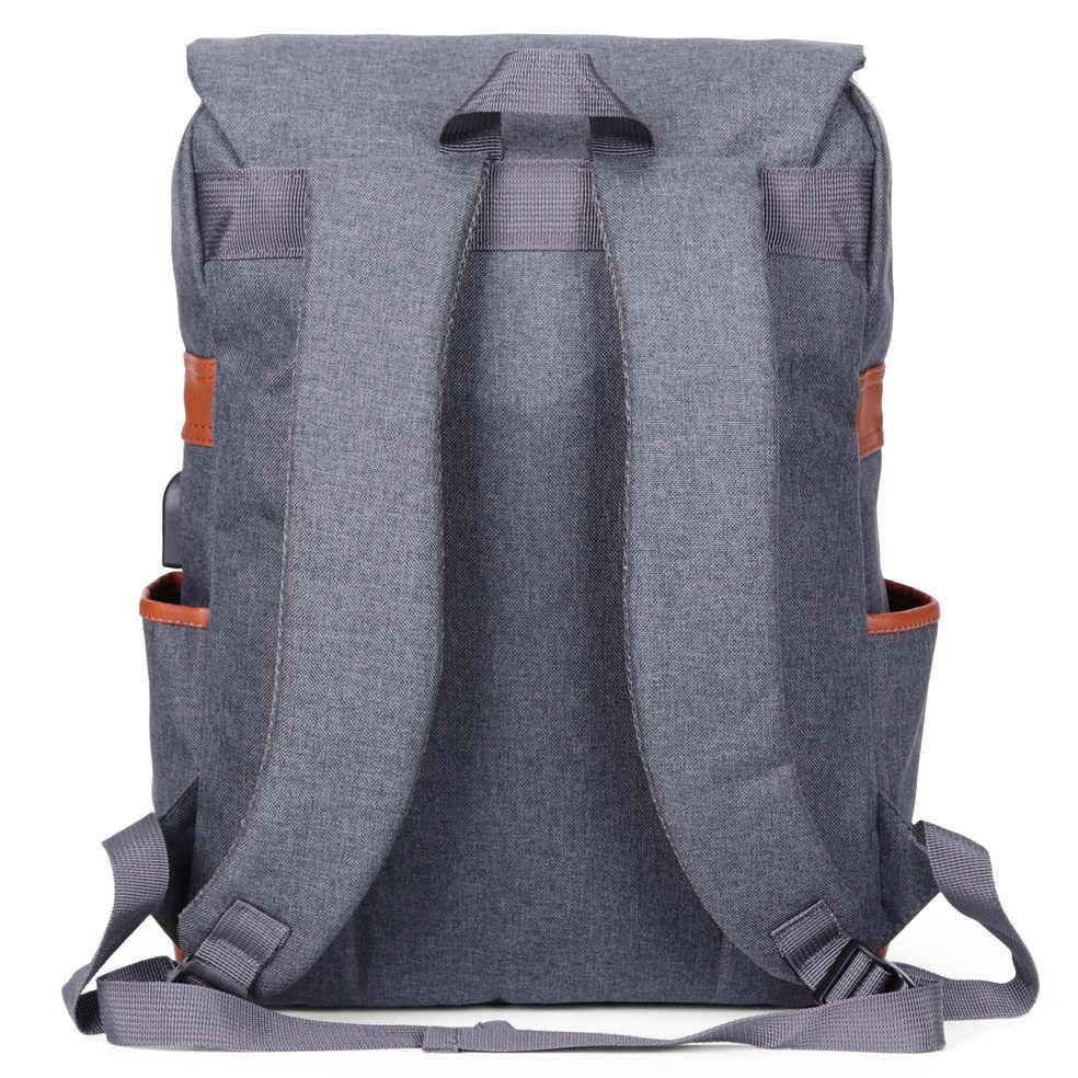 90b703970 ... Modoker Vintage Laptop Backpack With USB Charging Port Lightweight School  College Bag Rucksack Fits 15- ...