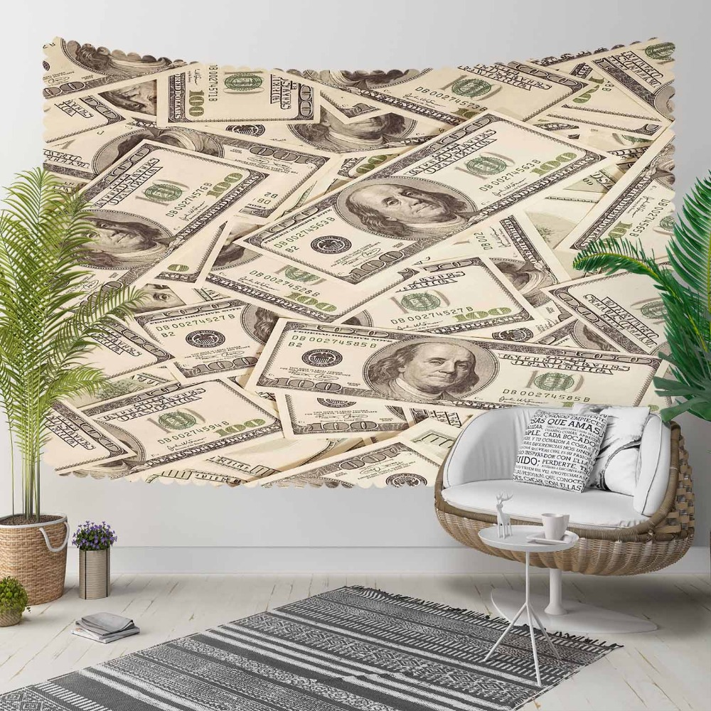 Else Brown Gray Money Funny Rich Dolar 3D Print Decorative Hippi Bohemian Wall Hanging Landscape Tapestry Wall Art