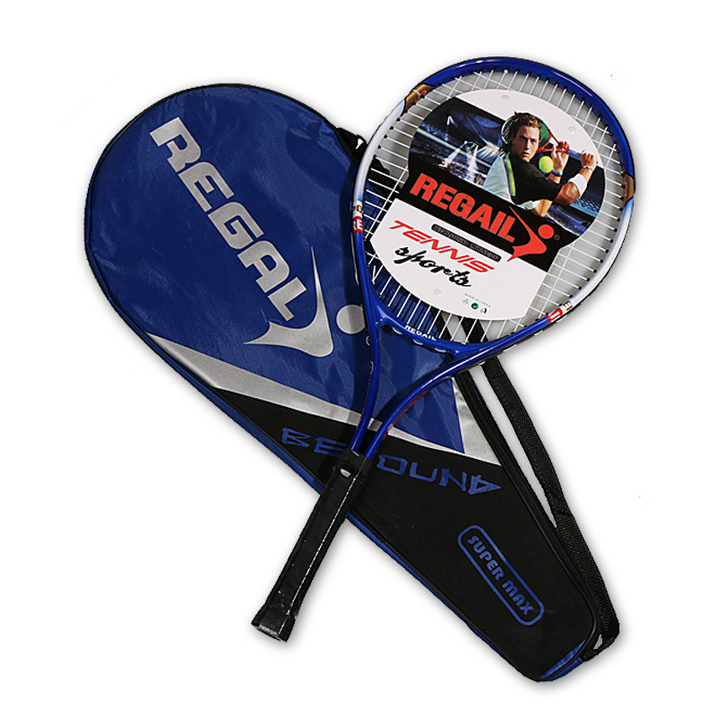 1Pc 67X27cm Aluminum Alloy Tennis Racket Tranning Racquets With Bag Tennis Grip Size 4 1/4 For Beginners