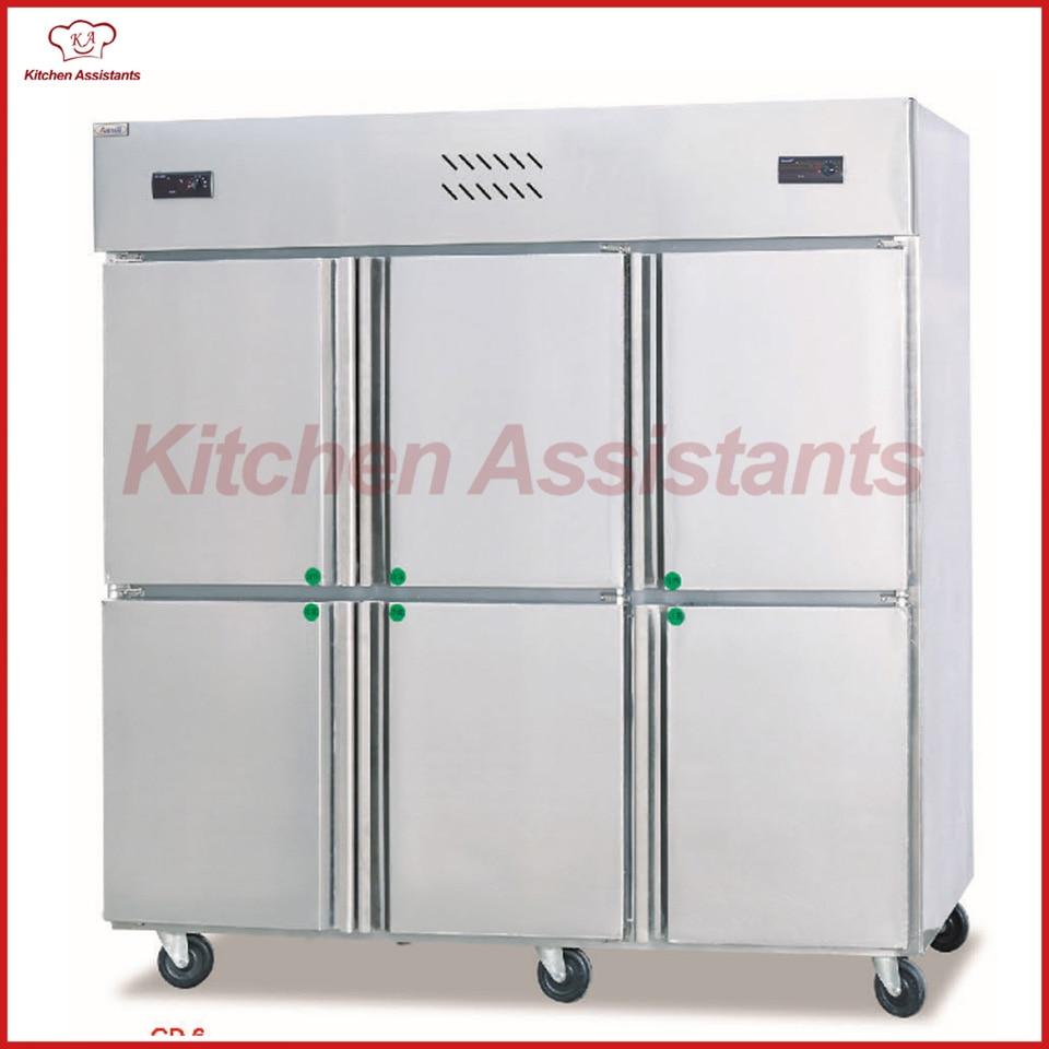 GD6 6 door commercial Kitchen Freezer Bar Refrigerator