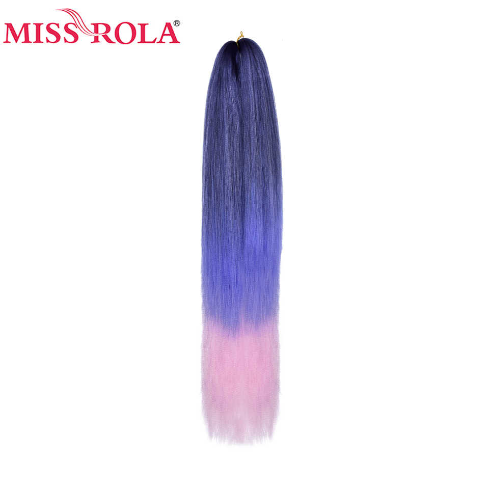 Miss Rola 5 Pieces Per Pack Synthetic Stretched Jumbo Braiding Hair 100g 24 Inch Kanekalon Crochet Twist Braid Hair Extension