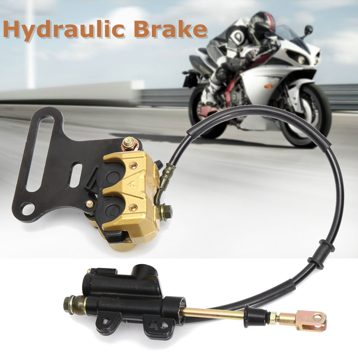 Hydraulic Rear Disc Brake Caliper System 110 125cc 140cc PIT PRO Dirt Bike 12mm tektro 300 hydraulic disc brake