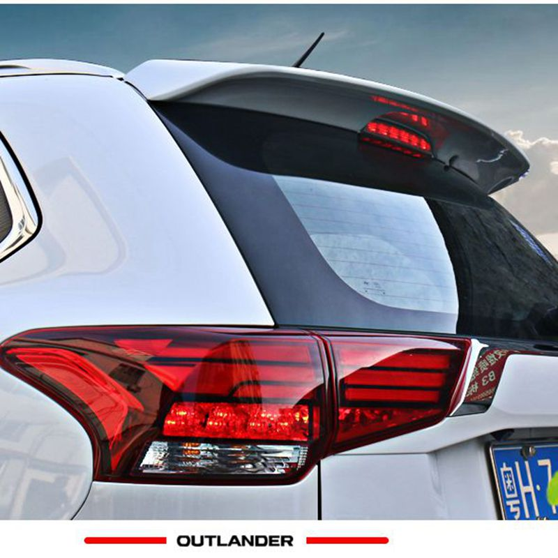 Car Styling ABS Plastic Unpainted Primer Rear Trunk Boot Lip Wing Rear Spoiler For Mitsubishi Outlander 2013 2014 2015 2016 2017 wald style unpainted fiberglass rear boot trunk wing spoiler for lexus is250 is350 2013 2015