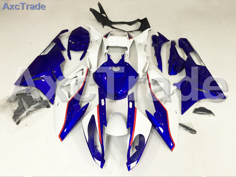 Motorcycle Fairings Kits For BMW S1000RR S1000 2015 2016 15 16 ABS Plastic Injection Fairing Bodywork Kit Blue White A452 motorcycle blue bodywork kit fairing for bmw s1000rr s 1000 rr s 1000rr 2015 15 injection mold fairings cowl set uv painted