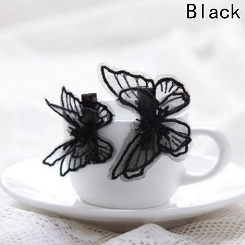 New Lace Embroidery Heart Butterfly Barrettes Clip Pin Kids Children Hairpin Baby Girls Hair Accessories