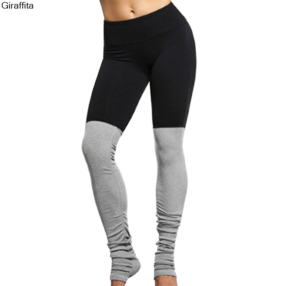 Women Leggings Pants Patchwork Fitness Skinny Slim Legging Pant Push Up Sexy Hips Step on Foot