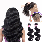 Originea Brazilian Remy Human Hair 360 Lace Frontal Closure With 2 Bundles Remy Hair Body Wave Bundles With 360 Closures