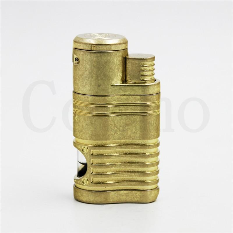 Guevara 3 Color Novelty Windproof Antique Copper Cigar cigarette Lighter 4 Torch Jet Flame No Gas
