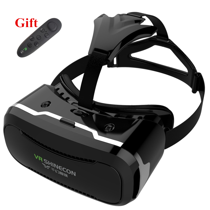 VR Glasses 3D Glasses VR Headset Box Virtual Joystick for Phone Virtual Reality Glasses for Iphone Google Cardboard Galaxy S9 hot 2018 original shinecon vr google cardboard vr box with headphone vr virtual reality 3d glasses for 4 7 6 0 inch phone