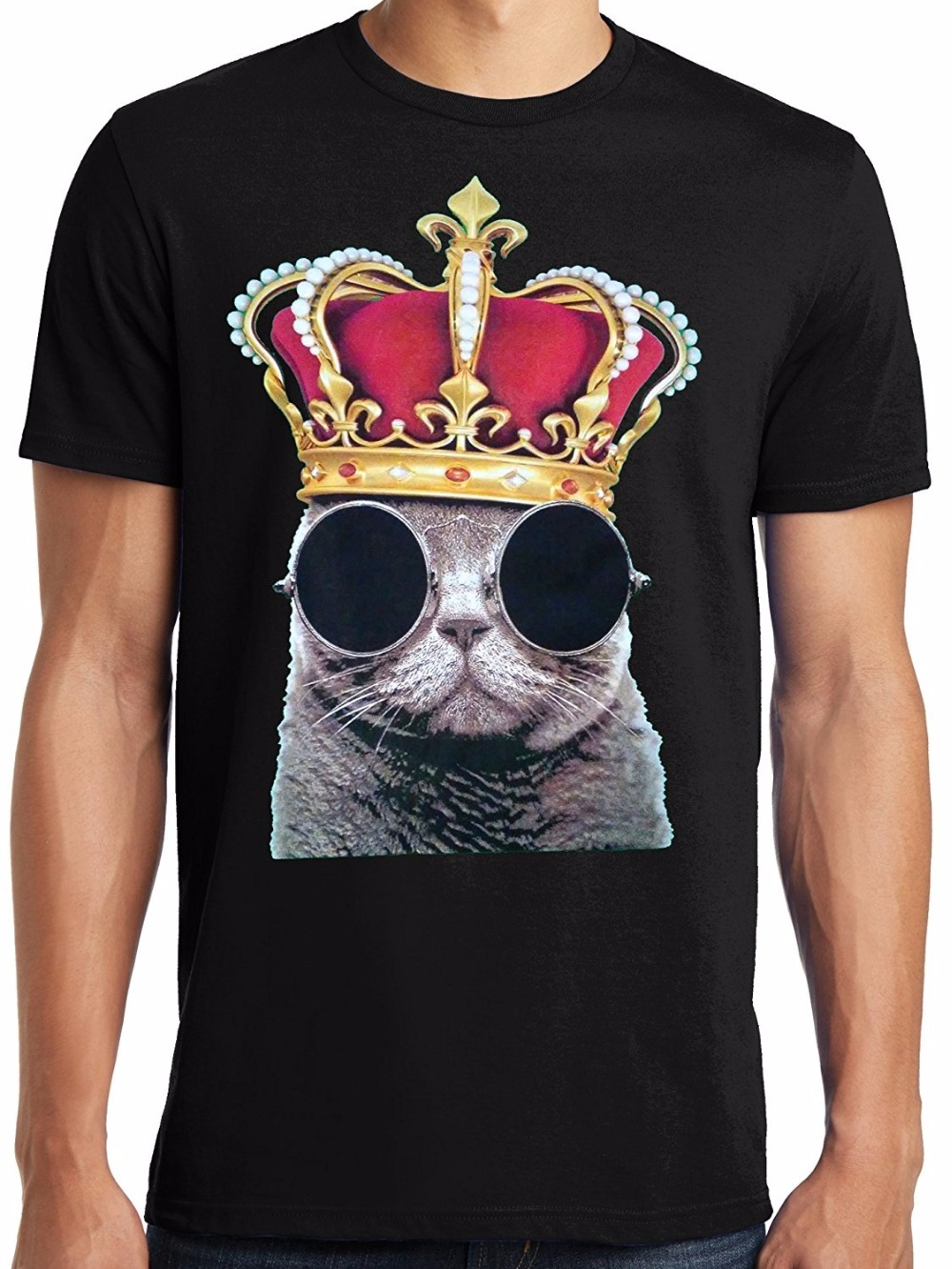 New 2018 Funny Short Sleeve Top O-Neck Mens Retro Tees Big And Tall King Size T Shirt