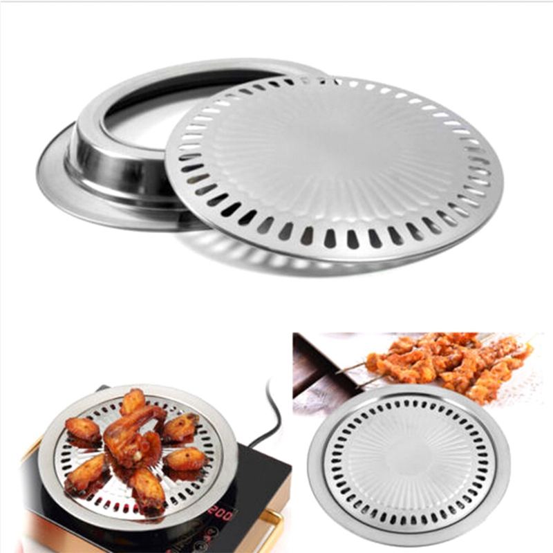 Smokeless Barbecue Grill Gas Household Non-stick Gas Stove Plate Indoor BBQ Barbecue Tool