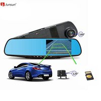 Junsun 8G 16G 32G Car DVR Dual Lens Full HD 1080P Video Recorder Rearview Mirror With