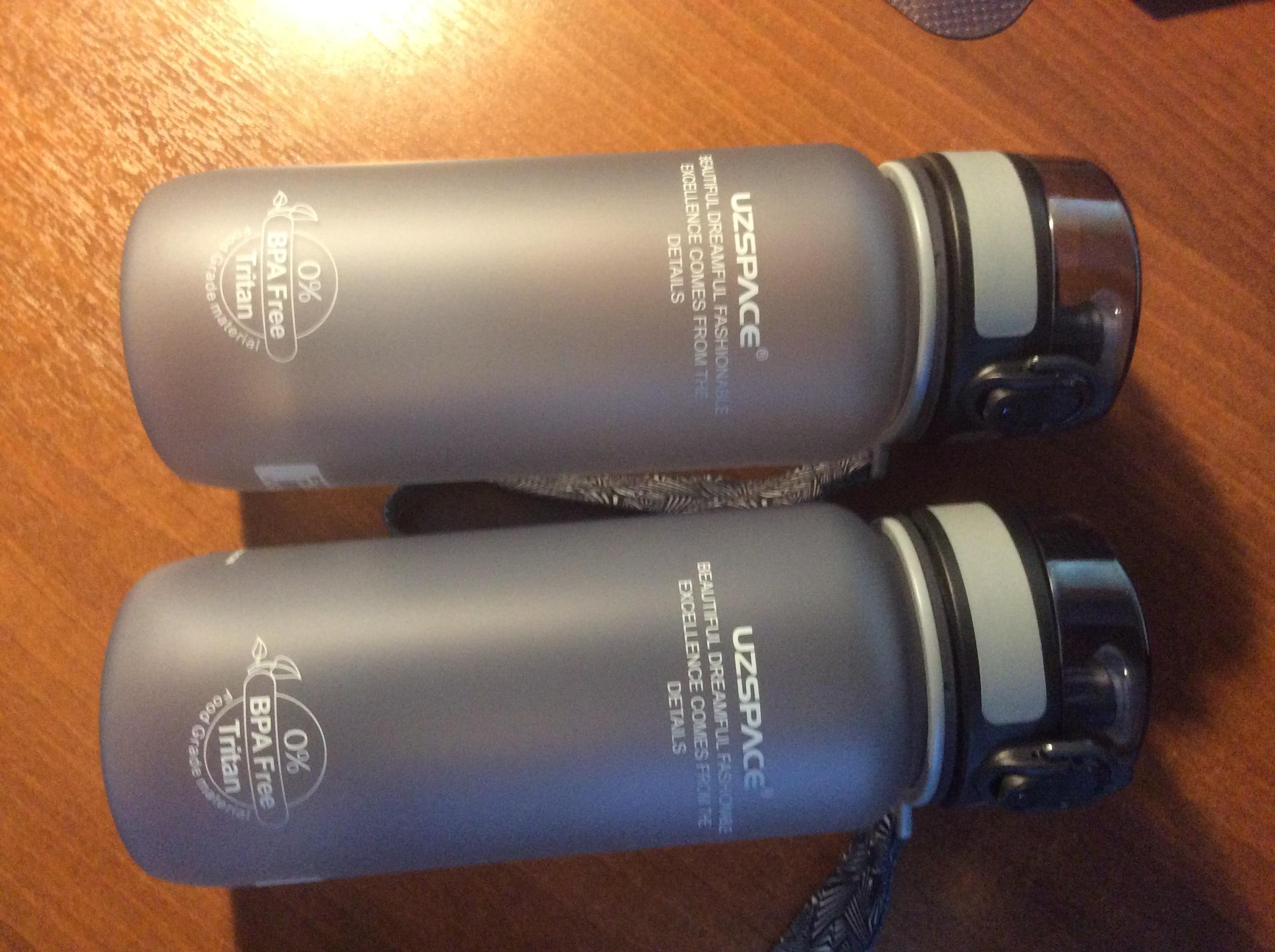 Uzspace Butelka Wody Tritan Materiał Drinkware białko shaker Camping Piesze Wycieczki Sport Mój Drink Plastikowa Butelka 500 i 1000 ml Bpa darmowe