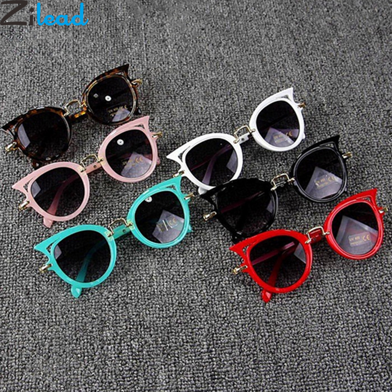 Zilead Cute Baby Cat Eye Sunglasses Kids Animal Cartoon UV400 Sun Glasses Children Eyewear Glasses For Girls&Boys Gift(China)