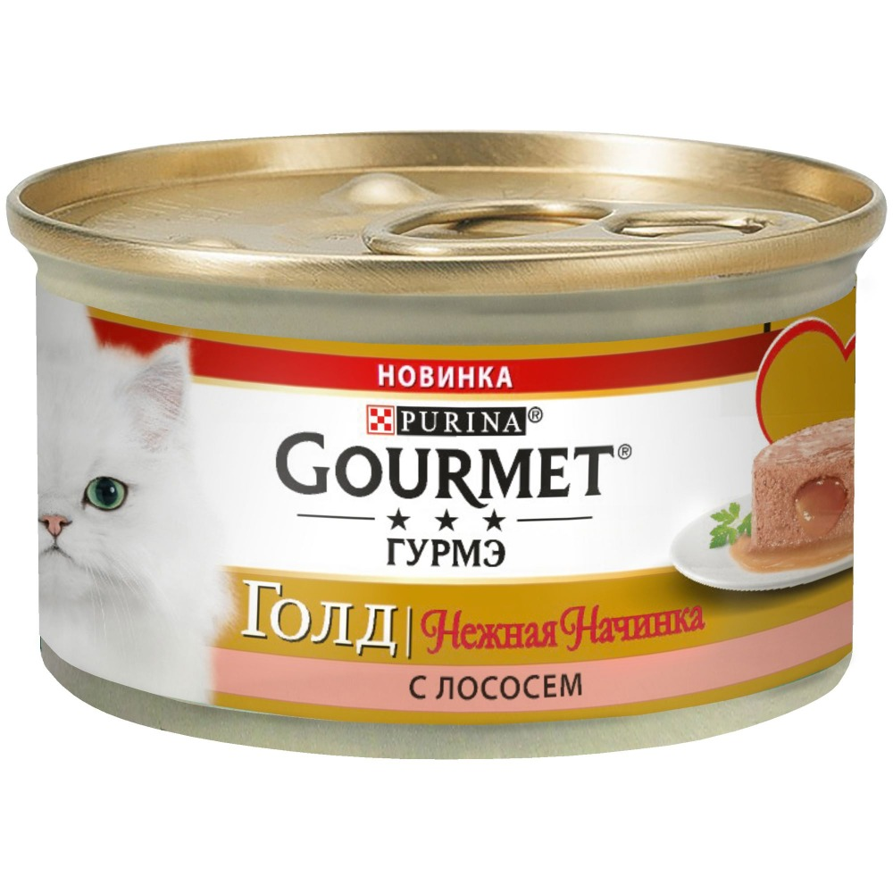 Wet food Gourmet Gold Gentle Filling for cats with salmon, bank, 12x85 g.