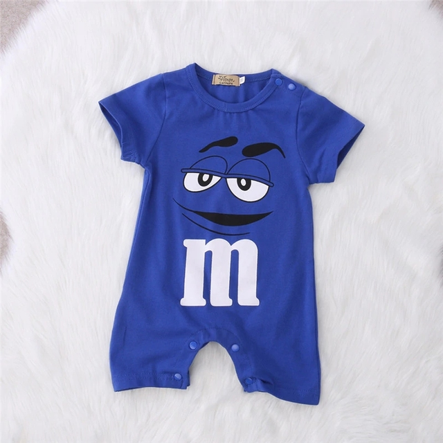 Baby Boy's Cotton Printed Short Sleeves Romper