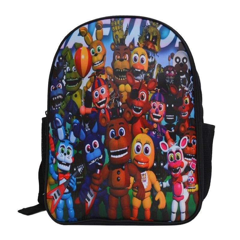 Five Nights at Freddy Backpack Teenager FNAF School Bags Men Women Five Nights at Freddys Bag Cartoon Preppy Sucksack