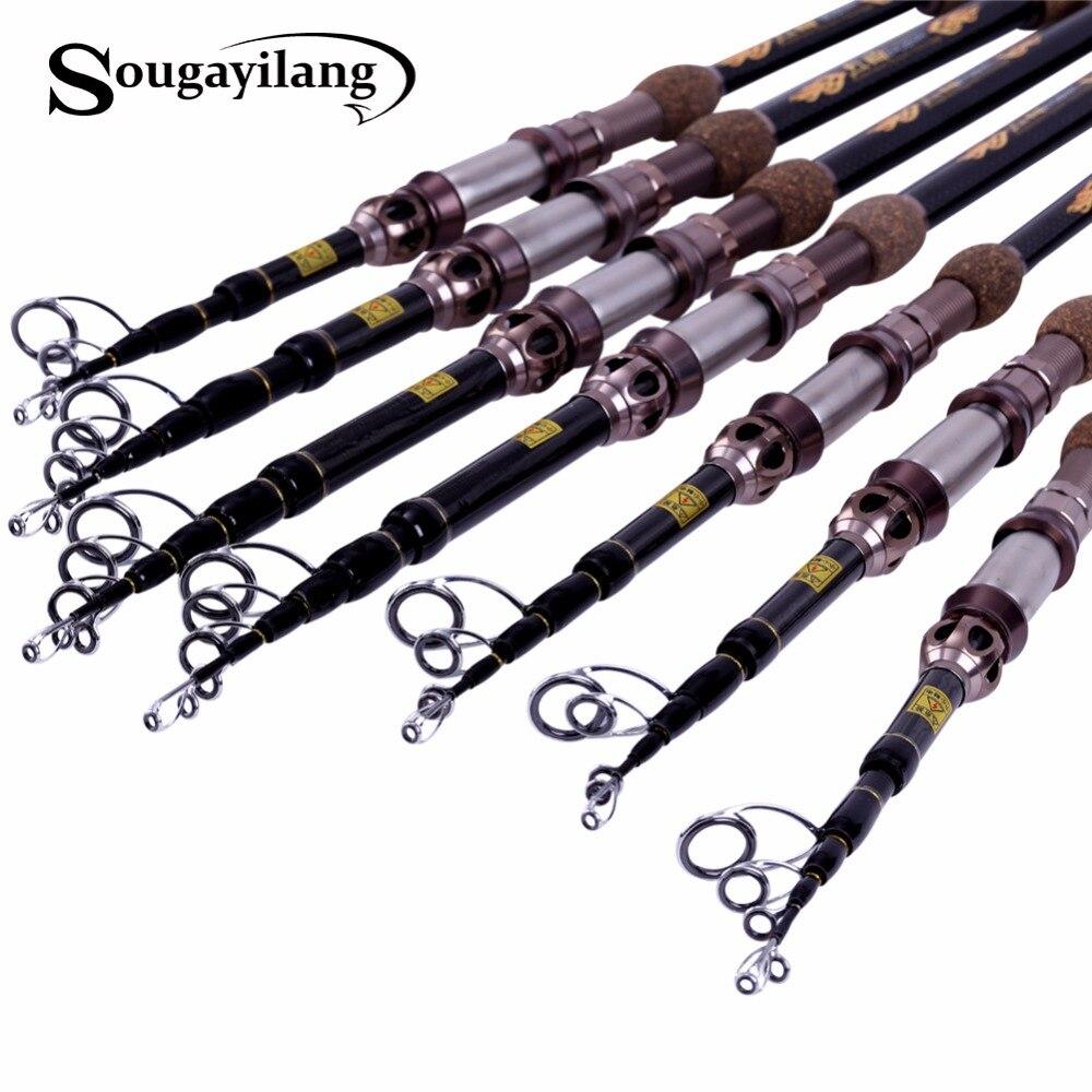 Sougayilang 1.8-2.7m 99% Carbon Fiber Telescopic Fishing Rod Spinning Fishing Rod Portable Lure Fishing Rod Tackle De Pesca