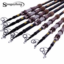 Sougayilang 1.8-2.7m 99% Carbon Fiber Telescopic Fishing Rod Spinning Fishing Rod Portable Lure Fishing Rod Tackle De Pesca