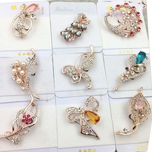 2018 new fashion Crystal Luxury vintage Brooches For Women Wholesales Fashion Jewelry party gift send randomly