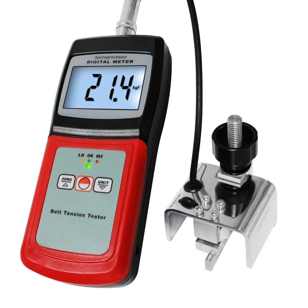 Jauge numérique de mètre de Tension de ceinture, 0 ~ 77 kg/0 ~ 120 lb/0 ~ 750 Newtons/0 ~ 144 semble, remplacement de fil de câble de bande, automobile