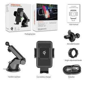 Image 5 - 15W הידוק אוטומטי אלחוטי מטען לרכב עבור iPhone עבור Samsung מהיר אלחוטי מטען לרכב עם טלפון מחזיק טעינה מהירה